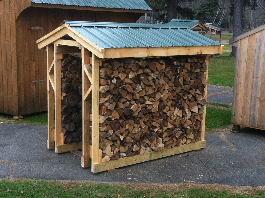 1 2 cord wood cozy brimfield shed for Cordwood shed